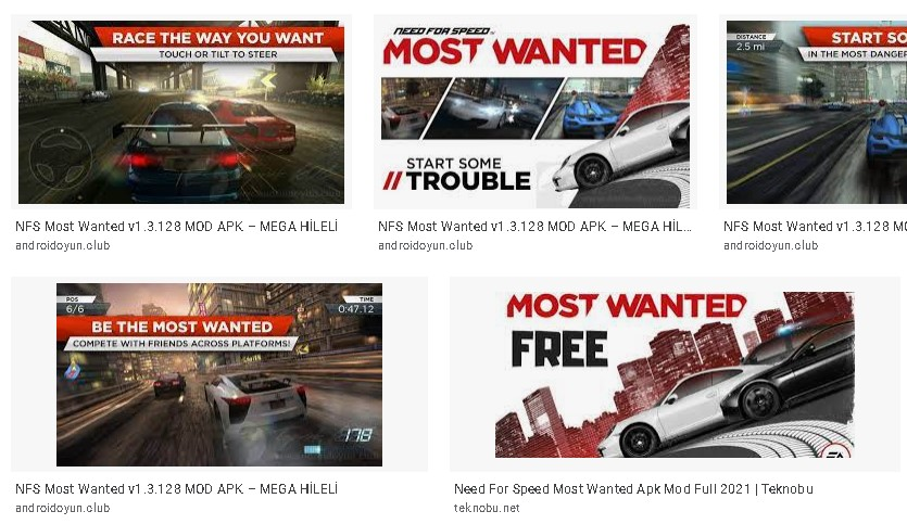 need for speed most wanted hileli apk